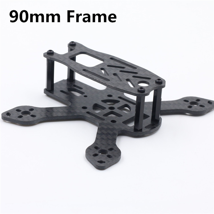 DIY FPV mini racing quadcopter drone QAV-90L 90mm pure carbon fiber frame drone with camera rc plane qav 250 carbon frame f3 flight controller emax rs2205 2300kv motor fiber mini quadcopter