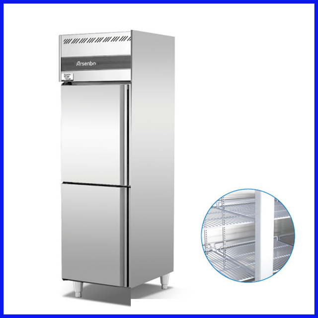 Direct cooling 2doors 18~ 22 degree stainless steel commercial ...