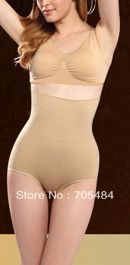 Free shipping 2pcs Women's High Waist Tummy Control Body Shaper Briefs Slimming Pants tummy sliming Trimmer Tuck