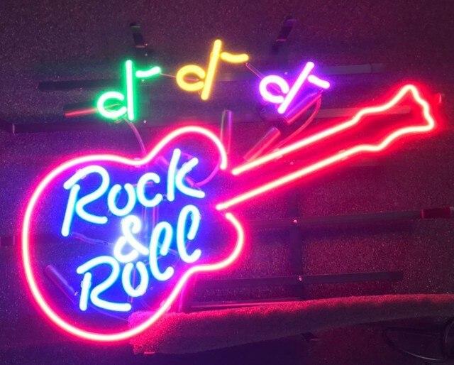 Custom Rock & Roll Neon Light Sign Beer Bar 1