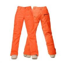 Новый 2016 зима оранжевый красочные камуфляж лыжные брюки женщины сноуборд брюки дамы зимние брюки