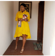 African Dress For Women Spring Summer 100% Cotton Fashion Print Irregular