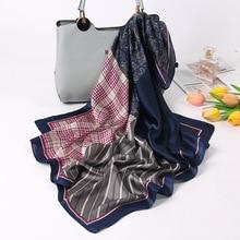 Women Print Silk Satin Scarves Hijab Scarf Female Bandana Classic Ladies High Quality Small Silk Scarf insect print bandana scarf
