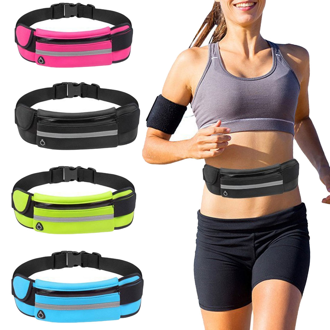 New Running Waist Bag Waterproof Phone Container Jogging Hiking Belt Belly Bag Women Gym Fitness Bag Lady Sport Accessories 7