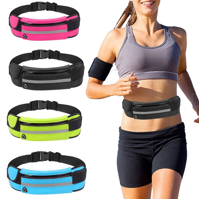 New Running Waist Bag Waterproof Phone Container Jogging Hiking Belt Belly Bag Women Gym Fitness Bag Lady Sport Accessories 2