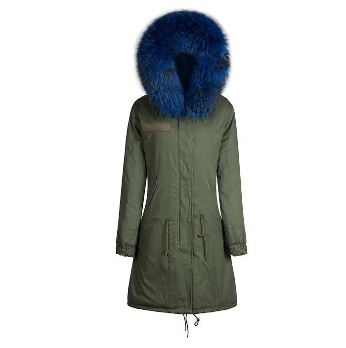 2017 fashion high quality winter coats men fur parka blue fur ...