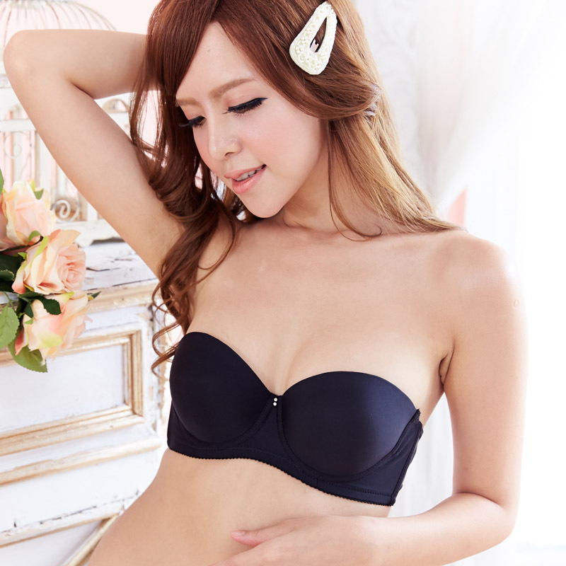 Gather sexy thicken padded Strapless cheap push up t shirt bra for ...