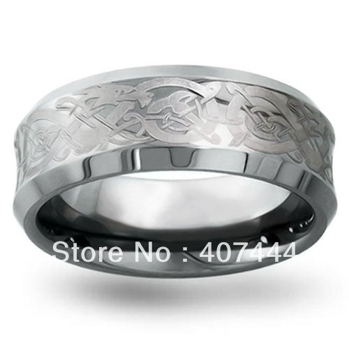 Free Shipping Cheap Price USA Russia Brazil Hot Sales 8MM Silver Concaved Men's Tungsten Carbide Wedding Ring US size 5-13