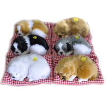 Stuffed Toys Lovely Simulation Animal Doll Plush Sleeping Cats Toy With Sound Kids Decorations Birthday