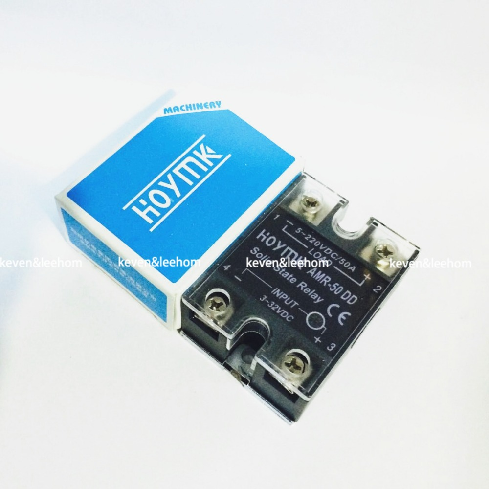 wholesale genuine Solid State Relay AMR-50DD 50A 3-32VDC/5-220VDC AMR-50 DD solid state relay g3nb 240 5 b 1 24 vdc