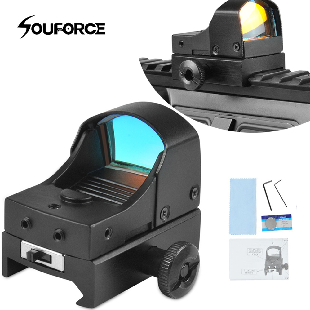 New Tactical Mini Red Dot Sight Compact Holographic Reflex Micro Sight Fit Airsoft Hunting