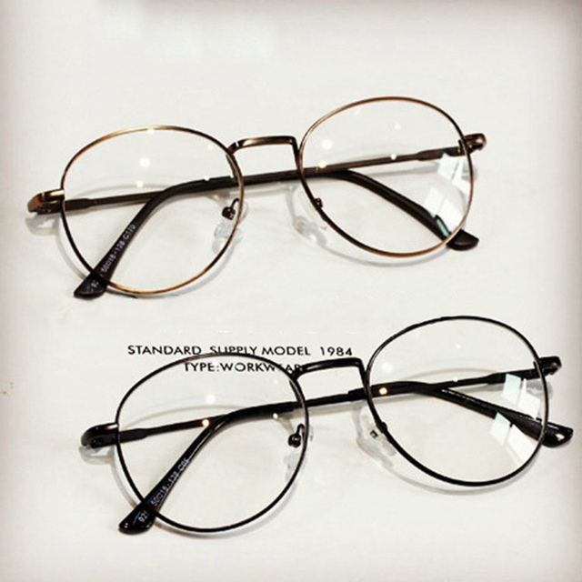 Hindfield Lovers Korea Small Round Glasses Frame Computer Optics ...