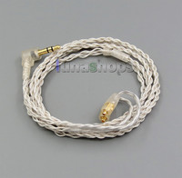 With Earphone Hook Silver Foil PU Skin Cable For Westone W40 W50 W60 UM10 UM20 Pro LN005317