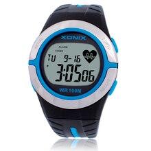 Xonix nabız unisex spor saatler su geçirmez 100 m erkekler ve kadınlar dijital İzle koşu dalış el saat montre homme