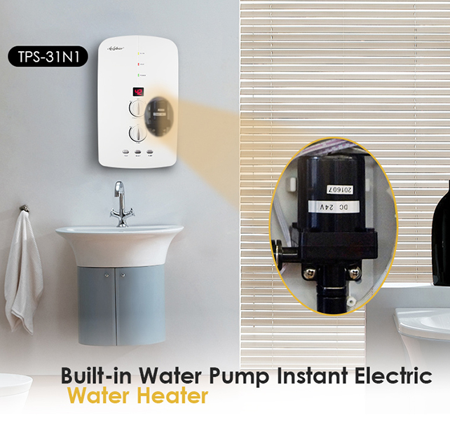 China Factory Price Mini Portable Heat Pump Instant Electric Water Heater For Tankless Hot Shower