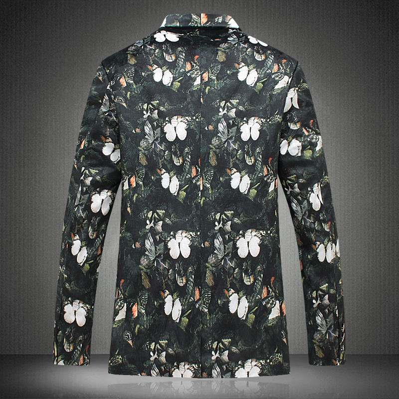 Floral Plus Nouveau Printemps X555 Red Costume Lonmmy Fleur Taille x999 x999 Yellow Veste Hommes x777 Mode x666 Blue x999 2018 Casaco Red White Fit Casual x777 5xl Blazer Slim De bgyYf67