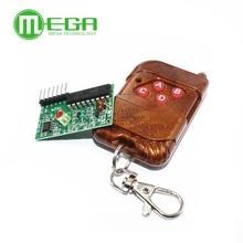 10set 2262/2272 kit de télécommande sans fil à quatre voies M4 plaque de récepteur de verrouillage avec télécommande sans fil à quatre boutons