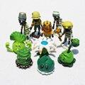 10 pçs/set PVZ Plantas VS Zombie Figura Brinquedos 3-10 cm Bonecas Zumbi Pult Repolho Balde PVC Figura Modelo brinquedos Frete Grátis