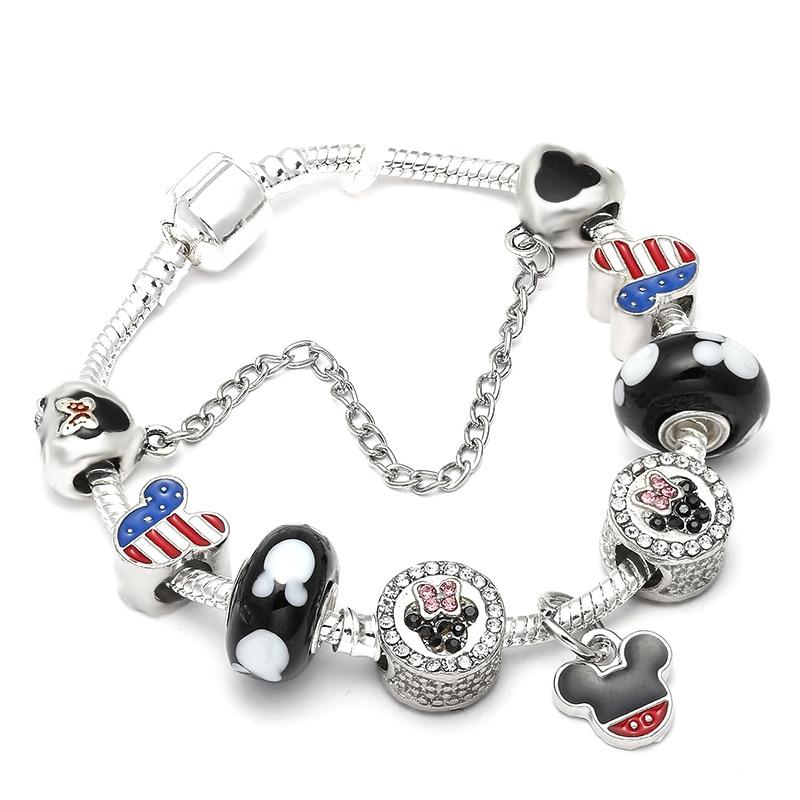 SPINNER Mickey Trojan Dangle DIY Charm Bracelet con cadena de la - Bisutería - foto 2