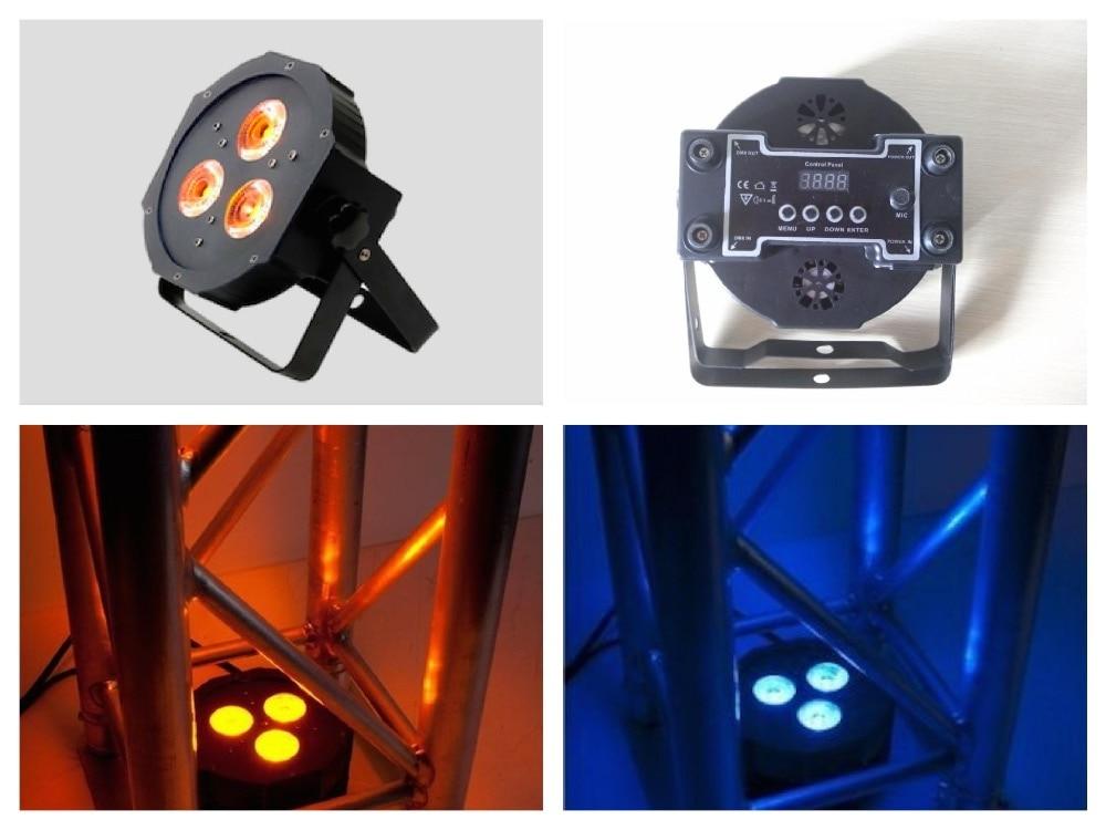 10pcs/lot, ADJ led par flat light 3x9W RGB 3in1 IEC slim par 38 disco club night american dj ktv stage party wedding lighting