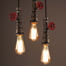 Amercian industry wind loft pendant lamp water pipe retro dining room bar pub club hall cafe restaurant chandelier light