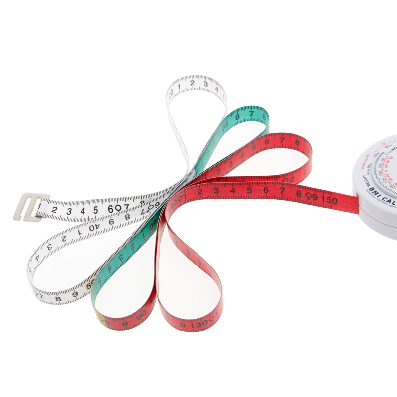 BMI Body Mass Index Retractable Tape 150cm Measure Calculator Diet Weight Loss Tape Measures Tools 2