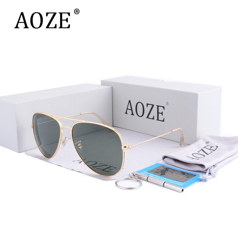 Óculos de Aviador para Mulheres G15 com Caixa Aoze Condução Lentes  Polarizadas dos Homens de Design da Marca Luxo 60mm Espelho Gafas Oculos  G15 Óculos com ... 680e8fd36b