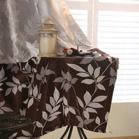 Modern Blackout Curtains Sheer Tulle Curtains Drop Coffee Purple Leaves Textile Living Room Kitchen Door Product