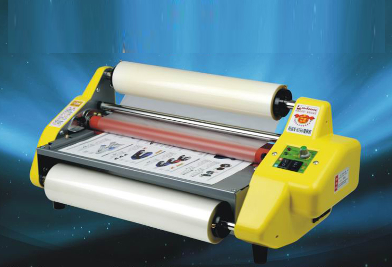 Fast Free Shipping NEW HOT Pouch Laminating Machine Hot Cold Roll Laminator + 2 Rolls Film laser automatic cd disk uv coating machine laminating coater extrusion laminator with high quality on hot sales