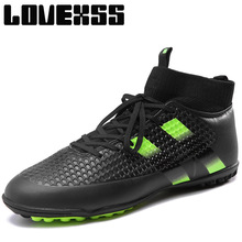 LOVEXSS Adults Men's Outdoor Soccer Cleats Shoes Man Brand Turf Football Boots Men's Sneakers Training Sport Shoes Man Brand