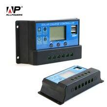 Allpowers 5 v 12 v 24 v regulador solar 20a panel solar regulador solar inteligente con pantalla lcd.