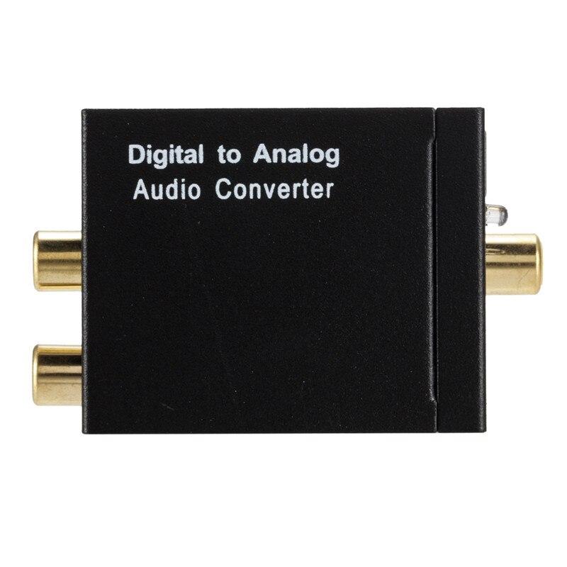 Beliebte Marke Digital Zu Analog Audio Converter Optical Spdif Koaxial Zu Stereo L/r Rca 3,5mm Jack Ausgang Audio Adapter Für Hdtv Dvd FüR Schnellen Versand Tragbares Audio & Video Digital-analog-wandler