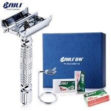 BAILI de lujo clásico de gama alta de barbero de hoja Manual de seguridad de la maquinilla de afeitar titular de la afeitadora cuchillo para hombres cara barba de afeitar BD521L + BP001B