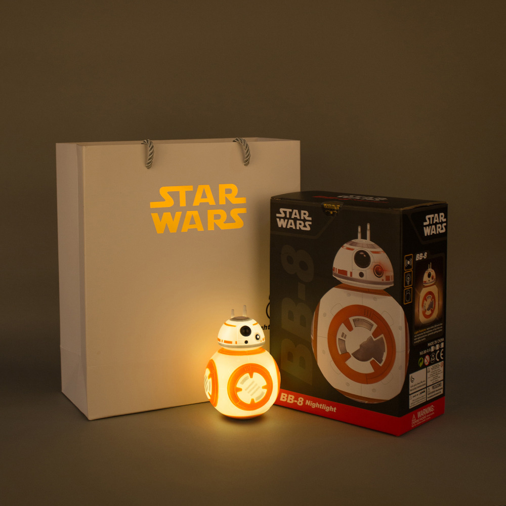 NEW 13cm Star Wars The Last Jedi BB8 BB-8 Night light eyecare USB charging Droid Robot model action figure toy Christmas gift power and memory 6 electronic counter jd116h other page href