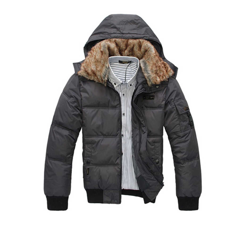 Men's Winter Quilted Down Coat Padded Overcoat Puffer Hooded Hoodie Jacket Parka