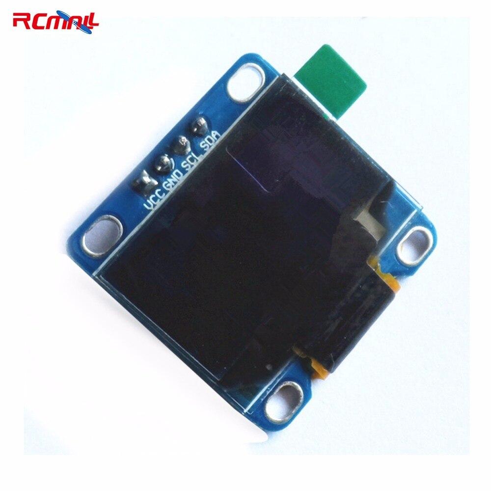 RCmall 0.96 Inch Blue I2C IIC Serial 128X64 OLED LCD LED Display Module for Arduino 51 MSP420 STIM32 SCR FZ1112-DIY