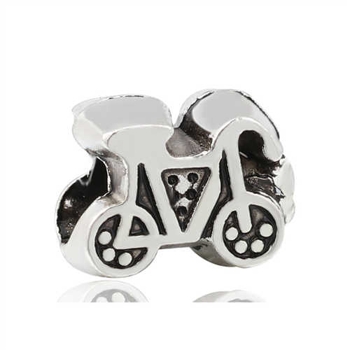 Vintage Punk Paduan Es Krim Kelinci Panda Bunga Diy Beads Cocok Pandora Charms Gelang untuk Wanita Liburan Perhiasan Pulsera Hadiah