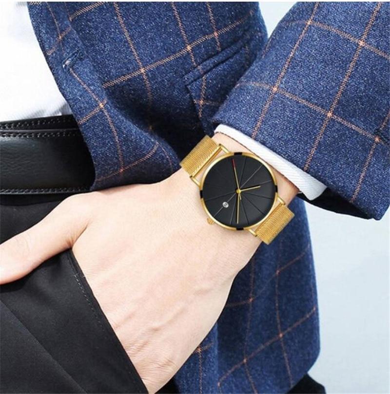Man Watch 2019 Luxury Gold Men Watches Ultra thin Mens Watches Stainless Steel Mesh Belt Quartz Man Watch 2019 Luxury Gold Men Watches Ultra thin Mens Watches Stainless Steel Mesh Belt Quartz Wristwatches horloge mannen