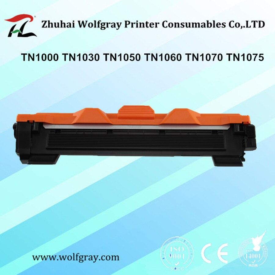 Cartucho de toner Compatible para Hermano TN1000 TN1030 TN1050 TN1060 TN1070 TN1075 HL-1110 TN-1050 TN-1075 TN 1075, 1000, 1060, 1070