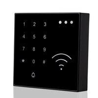 125KHz RFID Smart Card Reader NFC EM ID Reader Proximity Mit Türklingel Taste Wasserdichte Touch Tastatur Für Access Control system