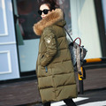Women's Down Jacket 2016 Winter Jacket Women Brand White Duck Down Jackets And Coats Thickening Natural Raccoon Fur Hooded Parka