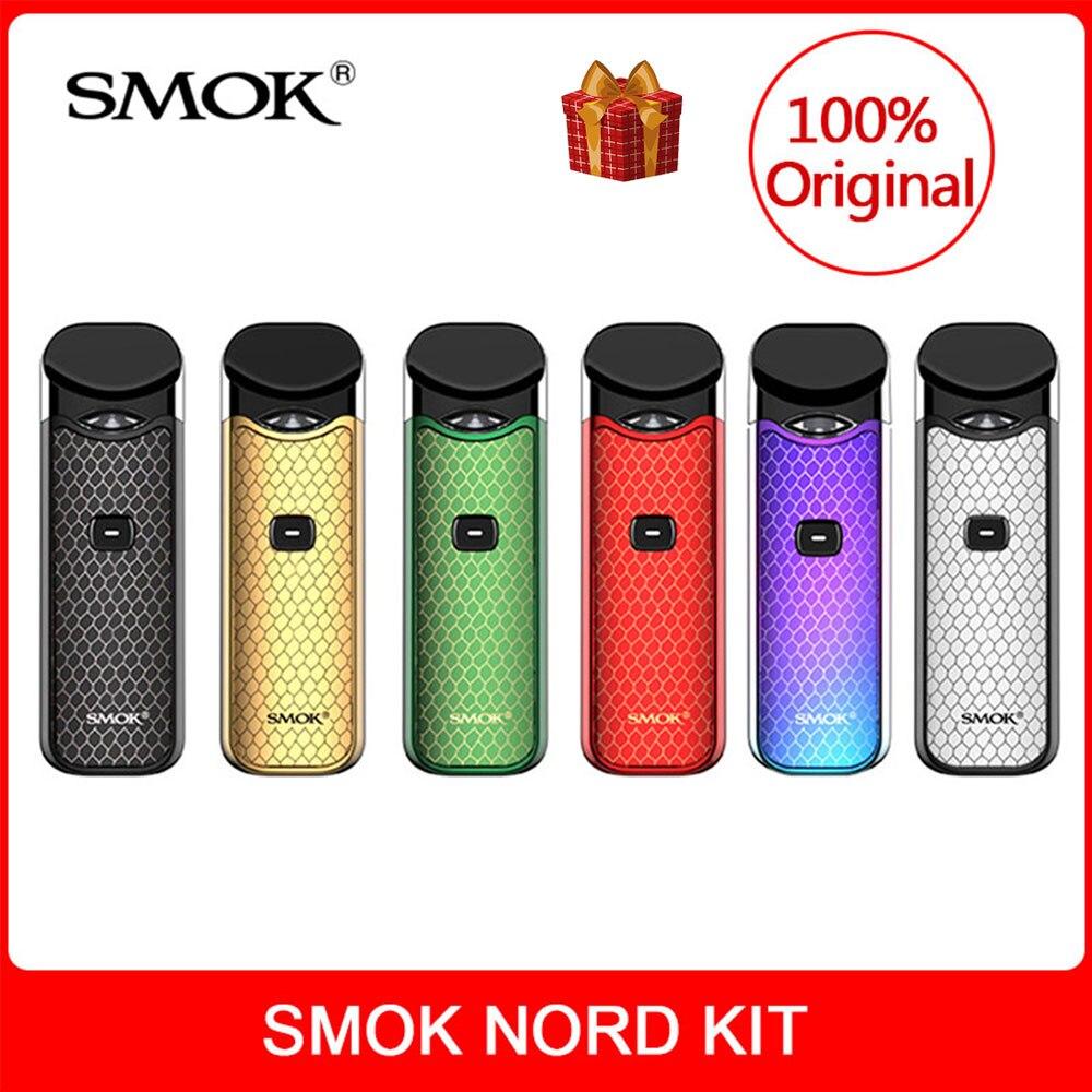 Kit SMOK Nord Original avec batterie intégrée + bobines + dosette 3ml pour Cigarette électronique smok nord kit vape dosette vs smok novo kit vape