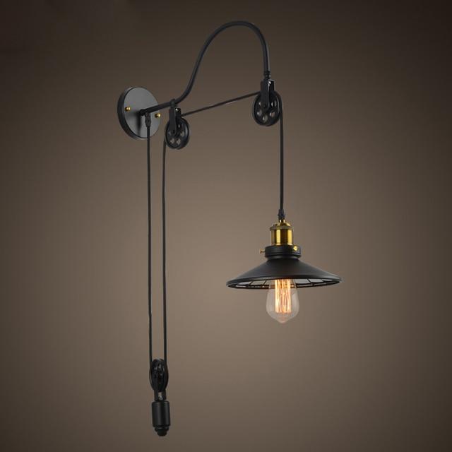 Vintage industrielle rétro Ameican pays poulie réglable Edison ...