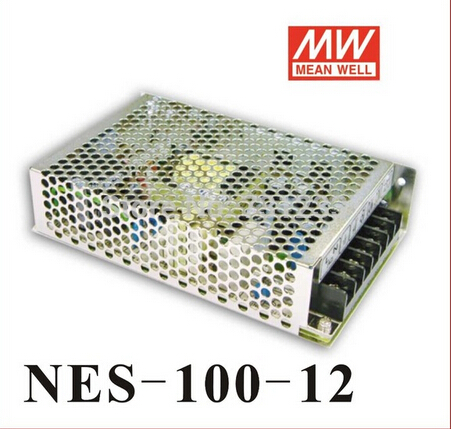 2pcs/lot High Quality Mean Well Switching Power Supply 100W 12V 8.5A NES-100-12 DC Single Output Stepper Power Supply meanwell 12v 350w ul certificated nes series switching power supply 85 264v ac to 12v dc