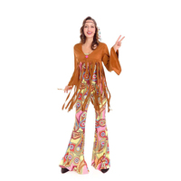 Native American Indian Costume Brown Color Halloween Carnival Dance Cosplay Party Clothe A3080