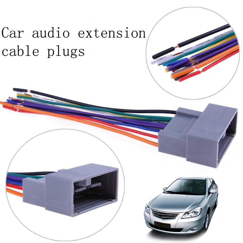 VODOOL Car Stereo CD Player Wiring Harness Wire Aftermarket Radio Install Plug Car Accessories Adapter For vodool car stereo cd player wiring harness wire aftermarket radio  at creativeand.co