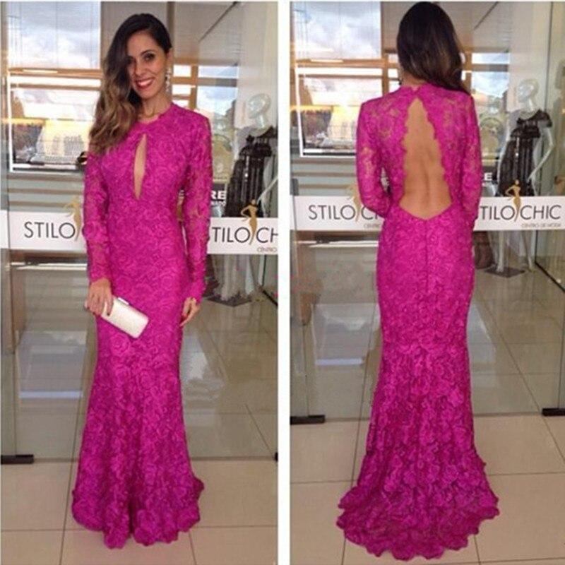 Vestido fucsia para boda de noche – Modelos con estilo de vestidos ...