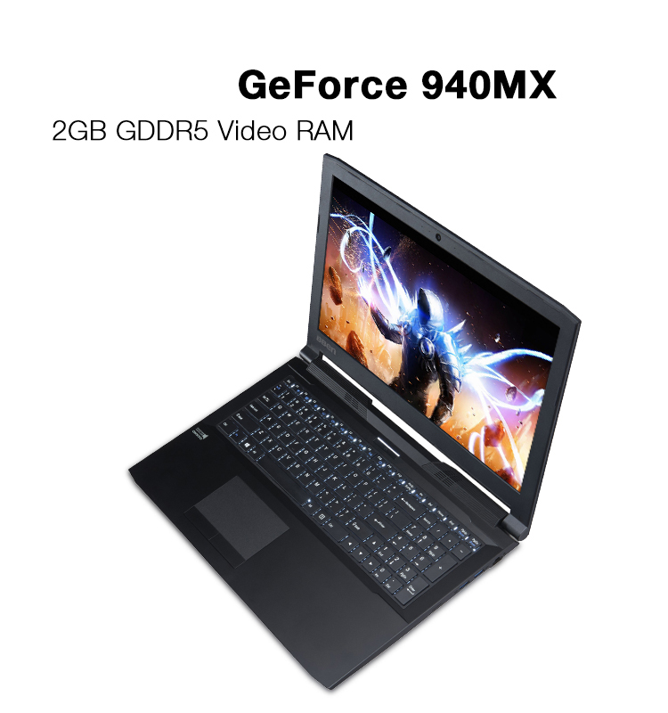 Fast run notebook laptop with Intel i5-6300HQ quad Core NVIDIA GeForce 940MX DDR3L RAM M.2 SSD HDD optional windows10 os