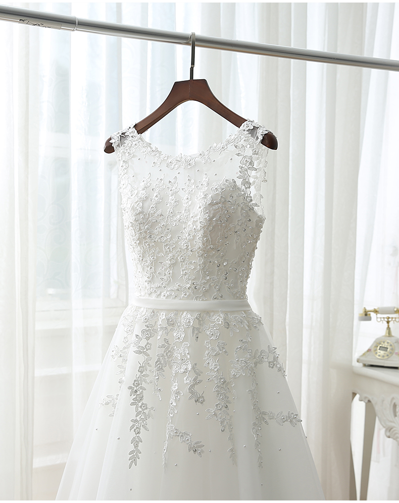 Shop cheap Short Bridesmaid Dress Cheap Knee Length Lace Gown online