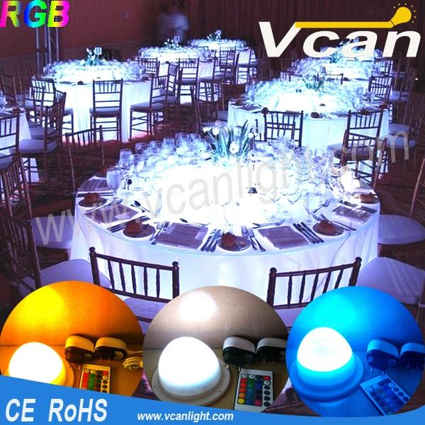 Livraison gratuite rapide lumineux RGB coloré Table de mariage gâteau Table décoration lumineuse LED